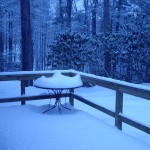 Back deck, table for two